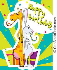 születésnap, köszönés kártya