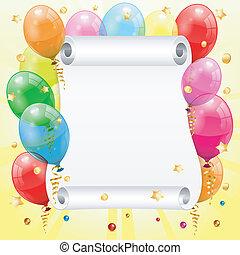születésnap, keret