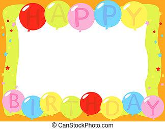 születésnap, léggömb