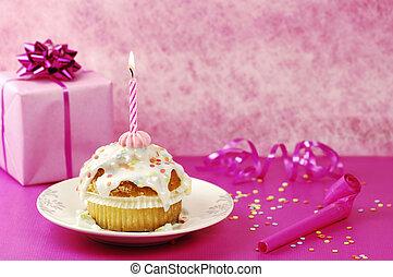 születésnap, muffin