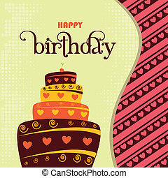 születésnap, tervezés, boldog