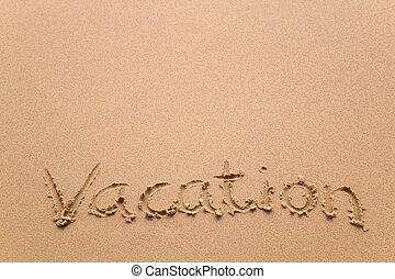 szünidő, alatt, homok, horizontális