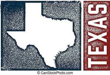 szüret, állam, texas, aláír