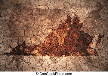 szüret, állam, virginia térkép