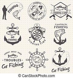 szüret, állhatatos, Elnevezés, halászat, Jelvény