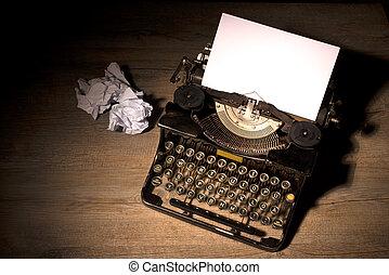 szüret, írógép