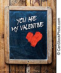 szüret, üzenet, chalkboard, kedves