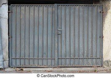 szüret, ajtó, garázs