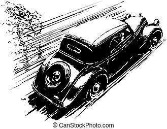 szüret, autó.