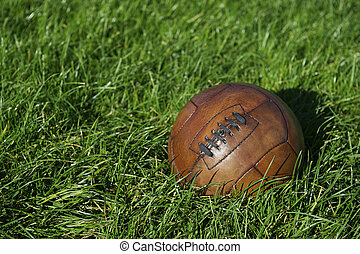 szüret, barna, labdarúgás, focilabda
