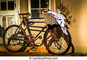 szüret, bicikli, napsütötte