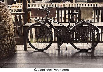 szüret, bicikli, retro