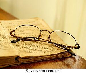 szüret, book., szemüveg