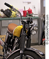 szüret, brit, motorkerékpár, 3