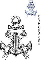 szüret, címertani, gyeplő, vasmacska, sketched