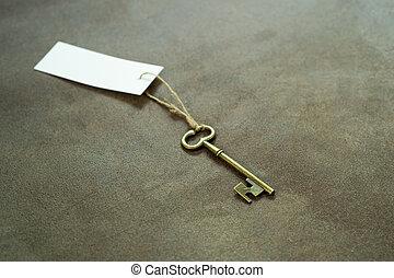 szüret, címke, fehér, öreg, kulcs, rézfúvósok