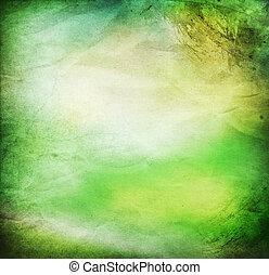 szüret, elvont, zöld háttér