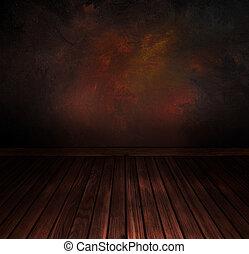 szüret, emelet, noha, wall., művészet, elvont, háttér