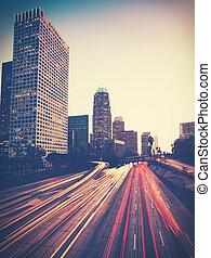 szüret, fénykép, városi, város