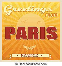 szüret, franciaország, párizs, poszter