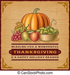 szüret, hálaadás, kártya