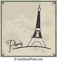 szüret, háttér, párizs
