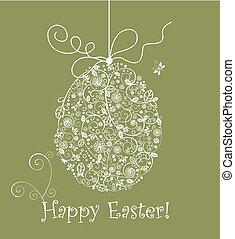 szüret, húsvét, csipkés, tojás