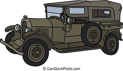 szüret, hadi, autó