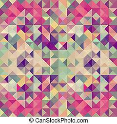 szüret, hipsters, geometriai, pattern.