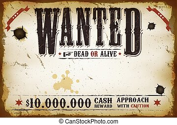szüret, kívánatos, western, poszter