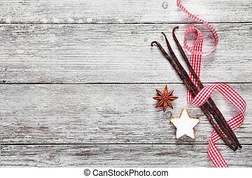 szüret, karácsony, háttér, fűszer