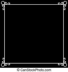 szüret, keret, képben látható, chalkboard, retro, háttér, helyett, csendes, film., vektor
