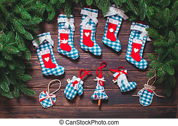 szüret, lakberendezési tárgyak, karácsony
