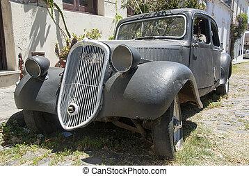szüret, mód, -, öreg, autó