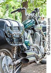 szüret, motorkerékpár, részletek