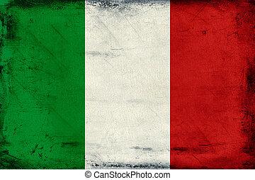 szüret, nemzeti lobogó, közül, olaszország, háttér