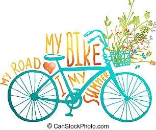 szüret, nyár, bicikli, noha, menstruáció