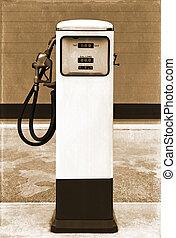 szüret, pumpa, benzin