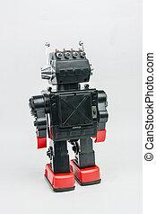 szüret, robot, retro, klasszikus, játékszer