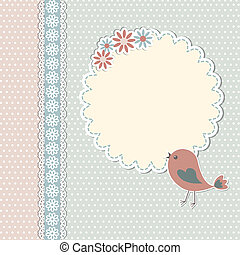 szüret, sablon, noha, madár, és, menstruáció