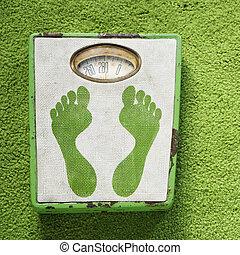 szüret, scale., súly