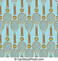 szüret, skicc, tenisz, mód, felszerelés