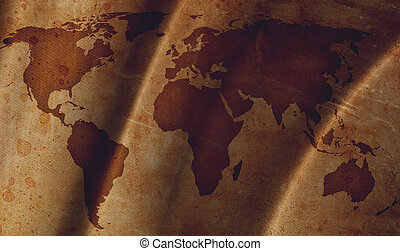 szüret, térkép, világ