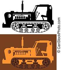 szüret, traktor