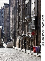 szüret, utca, edinburgh
