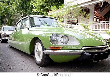 szüret, zöld, út, szépség, autó