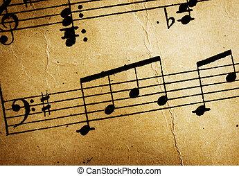 szüret, zene, háttér