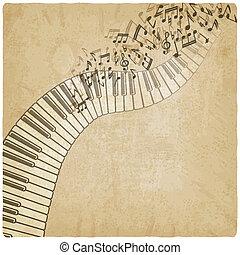 szüret, zongora, háttér