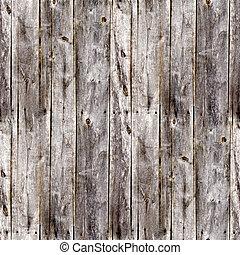 szürke, öreg, deszkák, kerítés, seamless, struktúra, erdő