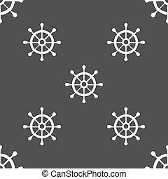 szürke, motívum, cégtábla., seamless, háttér., vektor, vezetés, hajó, ikon